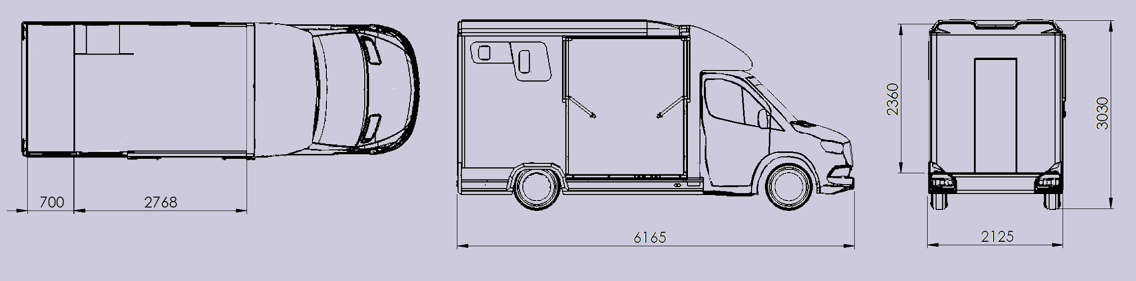 Click to view Internal Layouts, if you configure your vehicle this is part of the selection process